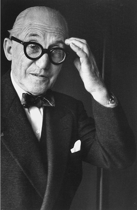 Charles-Édouard Jeanneret-Gris, better known as Le Corbusier (1887-1965) - Swiss-French designer, painter, urban planner, writer, and one of the pioneers of what is now called modern architecture. Photo by Gisèle Freund, 1961, Paris.