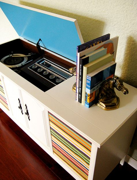 Restored Stereo Cabinet (ours Is Similar But No Doors On The Front)  #toniclivingdreamroom