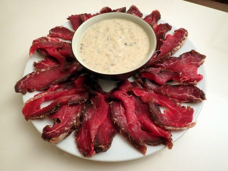 Gravlax de bœuf, salsa tonnata