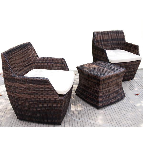 3 Piece Outdoor Vase Sofa Set | Outdoor Furniture - Rattan | Great $349 dealsdirect