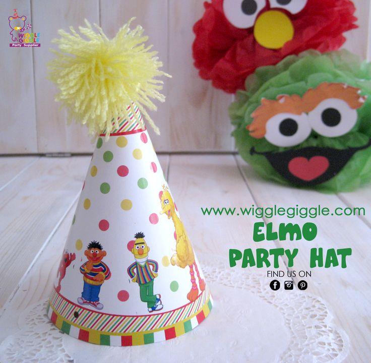 Elmo Party Hat. Visit us at www.wigglegiggle.com