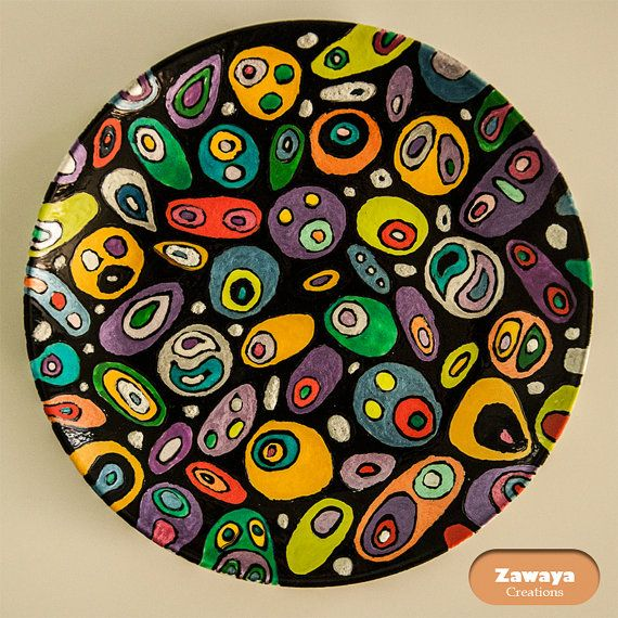 The Colorful Decorative Plate by ZawayaCreations on Etsy  sc 1 st  Pinterest & 105 best Decorative Plates images on Pinterest | Ceramic art ...