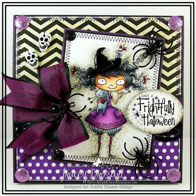 BrossARTaddiction: Have a Frightfully Fun Halloween with Kraftin Kimmie Stamps!!