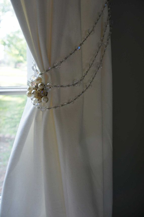 15 Best Images About Beaded Curtain Tie Backs On Pinterest