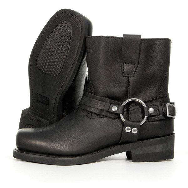 Xelement Womens Advanced Black Hell Rider Harness Motorcycle Boots