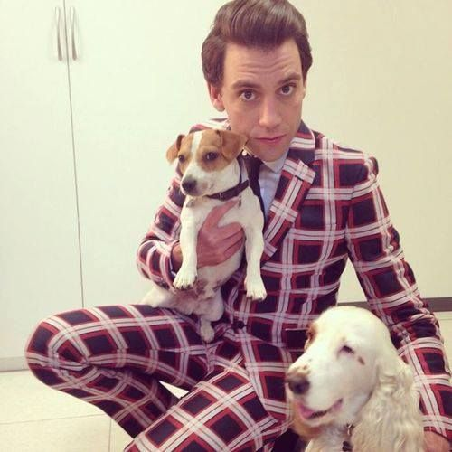 Mika with (not his) dogs