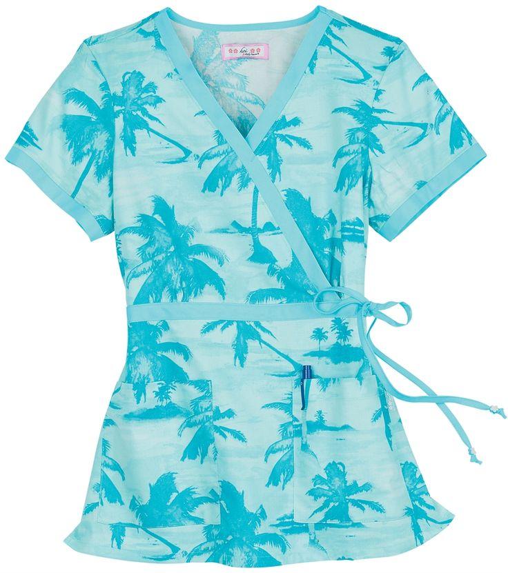 Scrubs - Koi 100% Cotton Island Palms Kathryn Scrub Top | Koi Scrubs | Brands | www.LydiasUniforms.com