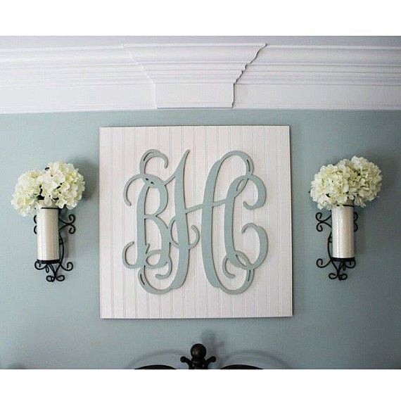 "28"" Wood Monogram Letters, Nursery Decor, Wooden Monogram, Wall Art, Large Wood monogram, Wedding Decor"