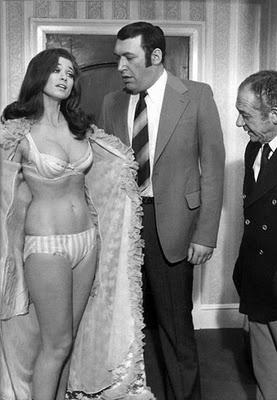 """You're showing your button"" - Bernard Bresslaw & Valerie Leon in Carry On…"