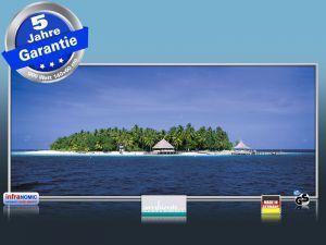 """Reif für die Insel? Die infrarot Bildheizung """"Malediven Palmeninsel"""" erzeugt gesunde Wärmestrahlung, die Du von der Sonne kennst!"""
