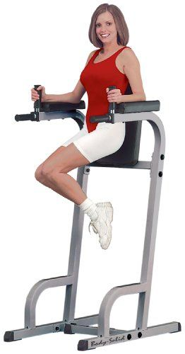 Hot Body Solid Commercial Rated Vertical Knee Raise and Dip Station Power Tower GVKR60