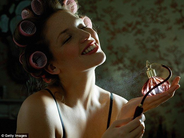 How wearing a nice perfume won't only make a woman smell nice - it can make her look more beautiful