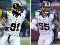 "The Rams trimmed their roster Friday. The team announced they have cut defensive end Chris Long, linebacker James Laurinaitis and tight end Jared Cook. | "" Hopefully the #KCChiefs can sign all or one of them that would be so cool.""  ""Hopefully, right?"" ""Cause as a former rams fan, would be nice to see them back in missouri but in Red & Gold."""