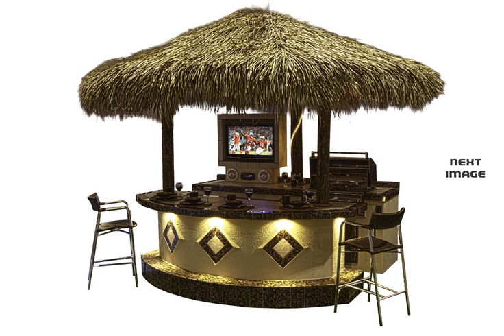 Paradise grilling systems patio ideas pinterest for Beach hut decoration items