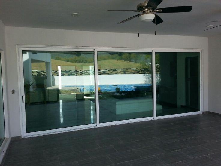 Puertas corredizas doble vidrio ventanas de aluminio - Puertas de vidrio correderas ...