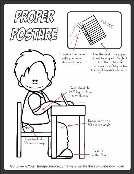 Remind students and teachers about proper posture for