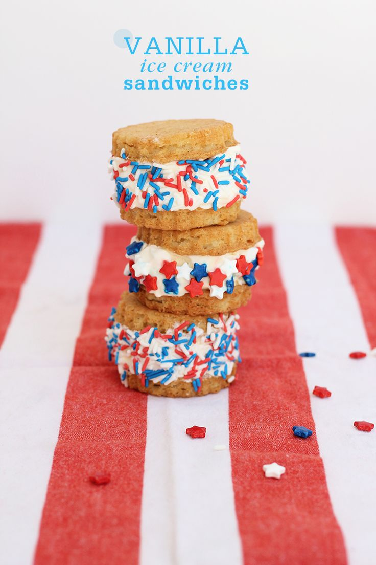 Summer is here! That means longer days, warmer nights, ice cream sandwiches and the 4th of July. #patriotic #party #celebrate #america