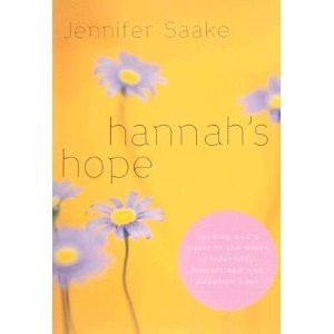an awesome book about dealing with infertility, miscarriage, and adoption loss through the eyes of Hannah in the Bible. jdsergent