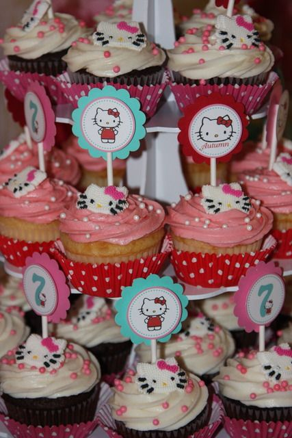 "Photo 28 of 32: Hello Kitty Red, Pink & Aqua / Birthday ""Hello Kitty 7th Birthday"" 