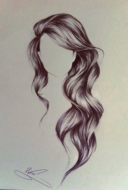 #hair #drawing I wish I could draw like this.. and have the hair too!