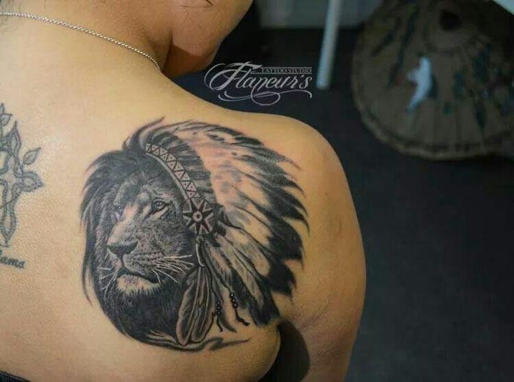 My beautifull native lion #tattoo