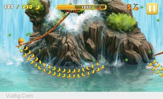 Banana Kong é um jogo divertido sobre o macaco King Kong bonito e divertido  está explorando a floresta de Amazona cheia de mistério.