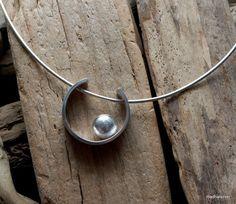 Silver 'pebble' pendant