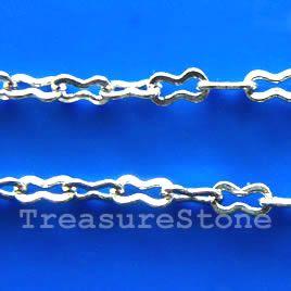 Chain, brass, rhodium-plated, 2.5x4mm. TreasureStone Beads Edmonton
