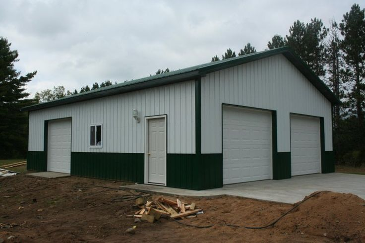 Pole barn style garage plan to building barn pole garage for Pole barn garage designs
