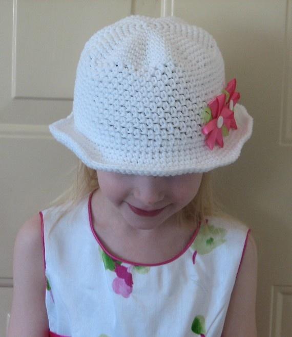 Daisy May Brimmed Sunhat Crochet Pattern 4T by ambassadorcrochet, $3.99