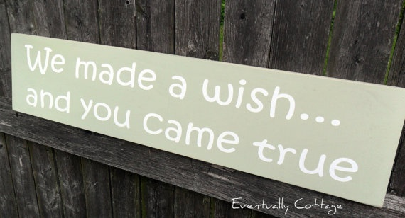 We Made a Wish Nursery Sign Handcrafted by Eventuallycottage, $23.00