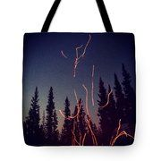 Campfire Sparks Near The Pines Tote Bag - What a cute tote for anyone into camping or RVing. Definitely a product for the 5th wheel life! I'd pack my art supplies in it for a weekend getaway.  #RVlife