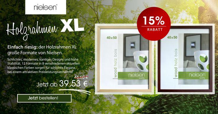 Einfach riesig: der #Holzrahmen XL große Formate von #Nielsen. #Aktion #Bilderrahmen