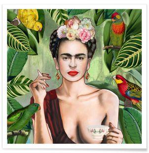 Juniqe.se - Frida Con Amigos - Nettsch - Premium Poster