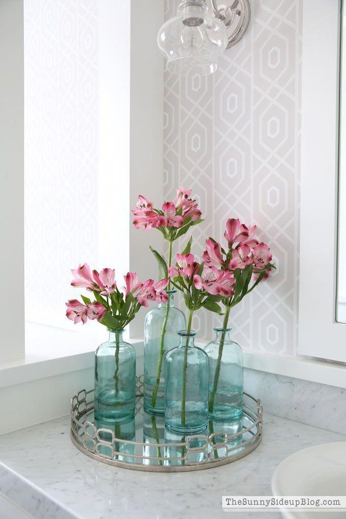 Vintage Pink Bathroom Ideas Bathroom Flowers Restroom Decor Bathroom Decor
