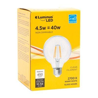 Luminus PB9401N G25 Clear Filament LED Light Bulb
