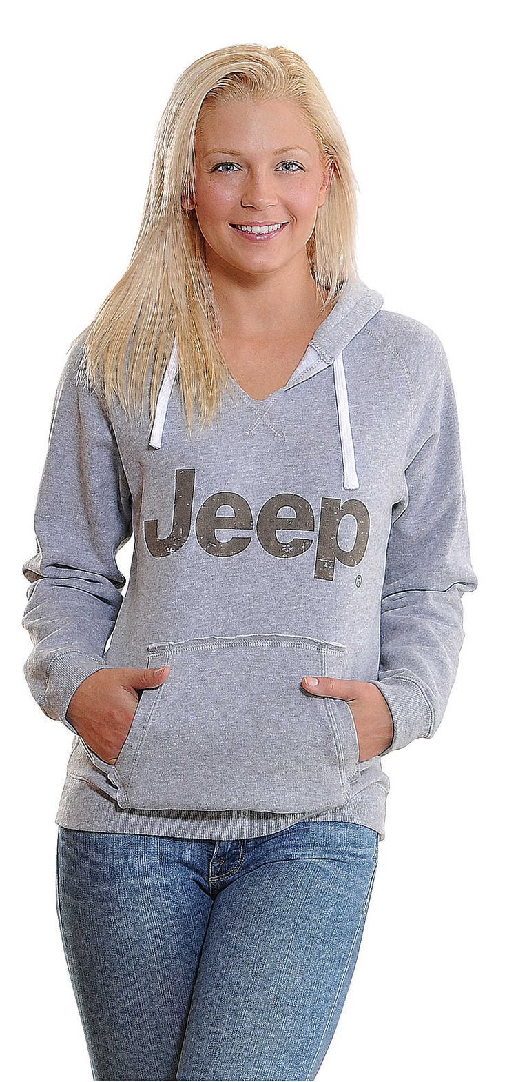Mopar® Jeep® Woman's Soft Touch Hoodie in Gray | Quadratec
