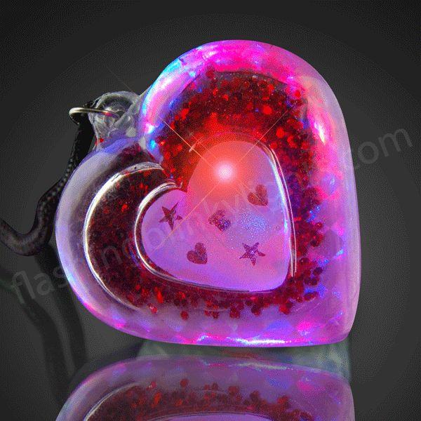 Cute Valentines Day Idea Blinking Jewelry LED Acrylic