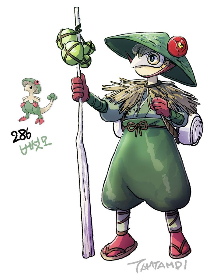 Pokemon Gijinka 285. Shroomish 286. Breloom