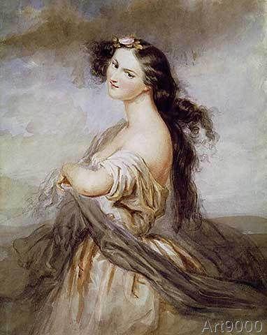 Charles Voillemot - Portrait of Juliette Drouet (1806-83)