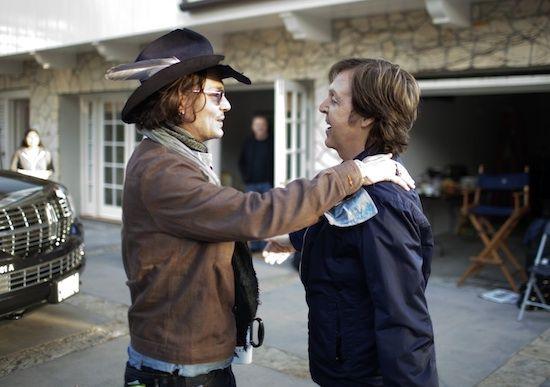 Johnny Depp and Paul McCartney. Johnny. Depp. And. Paul. McCartney.