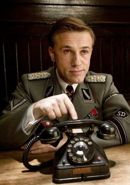 "Christoph Waltz as Col. Hans Landa in ""Inglourious BastErds"" (2009)"