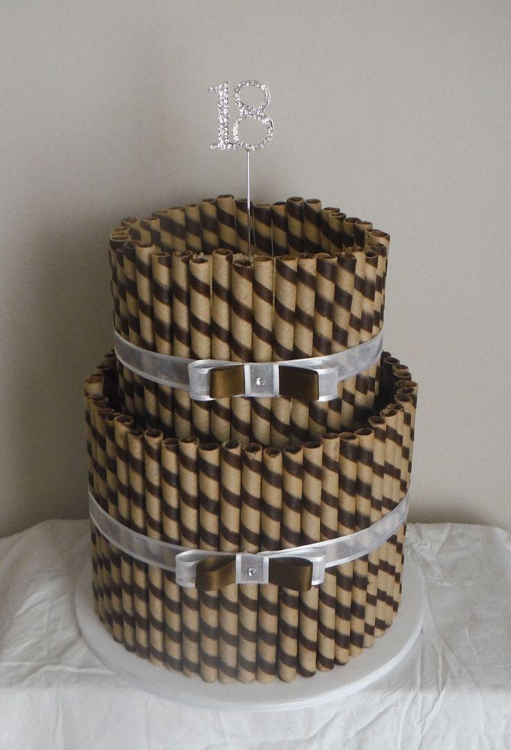 2 Tier Corinthian Cake - Bottom Tier Chocolate & Top Tier Vanilla