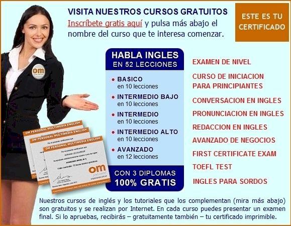 Curso ingles online gratis certificado