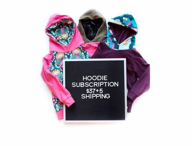 Hoodie Subscription! Who doesn't love surprise mail! Our hoodie subscription is available the 1st of each month!