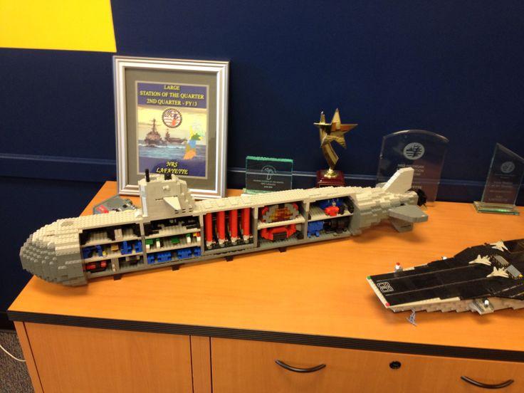 U.S. Lego Submarine at the Navy recruiting office Lafayette Indiana
