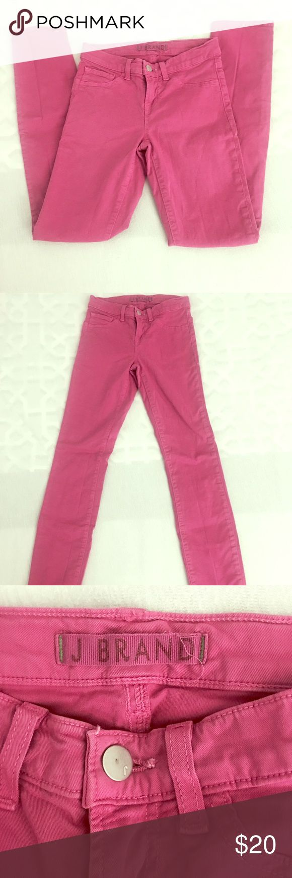 J Brand pink skinny jeans - size 24 J Brand pink / purple skinny jeans - long - no signs of wear J Brand Jeans Skinny
