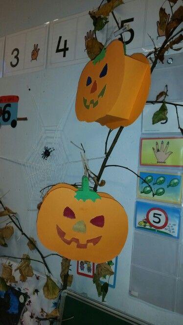 Sint Maarten, lampion, pompoen, Lantern, pumpkin. Nov. 2015