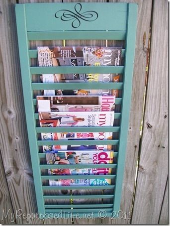 Fine Craft Guild shows you how to make your own magazine rack by recycling an old window shutter.