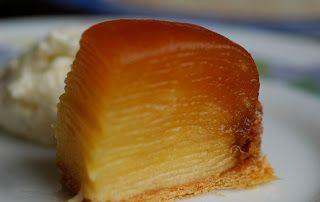 Tarte Tatin façon Conticini, avec des lamelles de pommes confites.......